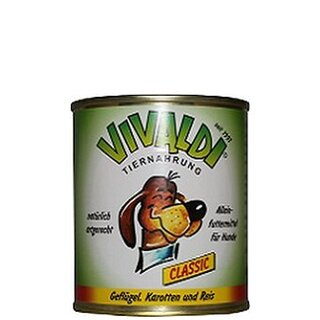 Vivaldi Poultry, Carrots & Rice - 300 g can
