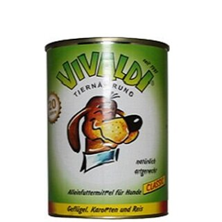 Vivaldi Poultry, Carrots & Rice - 400 g can