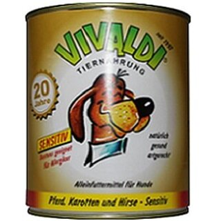 Vivaldi Sensitive Horse, Carrot & Millet - 820 g can