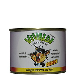 Vivaldi Poultry, Carrots & Rice - 195 g can